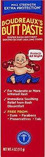 Boudreaux's Butt Paste Diaper Rash Ointment | Maximum Strength | 4 Ounce (Pack of 1) Tube | Paraben & Preservative Free