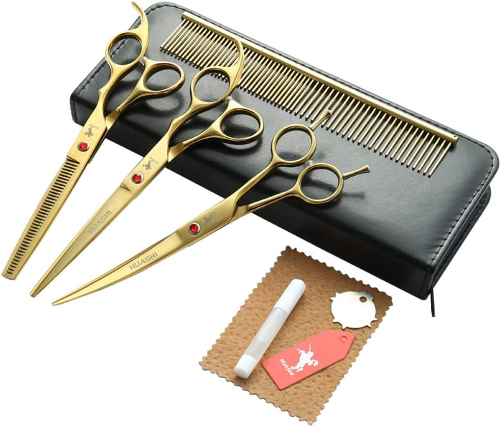 Professional 7.0 inch 4PCS Pet Dog Cuttin Large discharge sale Grooming Fashionable Scissors Hair