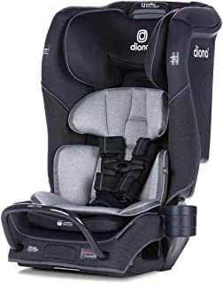 Diono 2020 Radian 3QX, 4-in-1 Convertible, Safe+ Engineering, 3 Stage Infant Protection, 10 Years 1 Car Seat, Fits 3 Across, Black Jet
