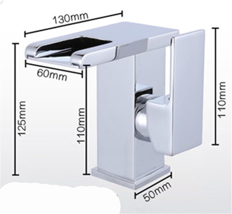 Alle Kupfer Wasserfall Armatur Waschbecken WC warmes und kaltes Licht emittierende erhht, Waschbecken, Badewanne Armatur
