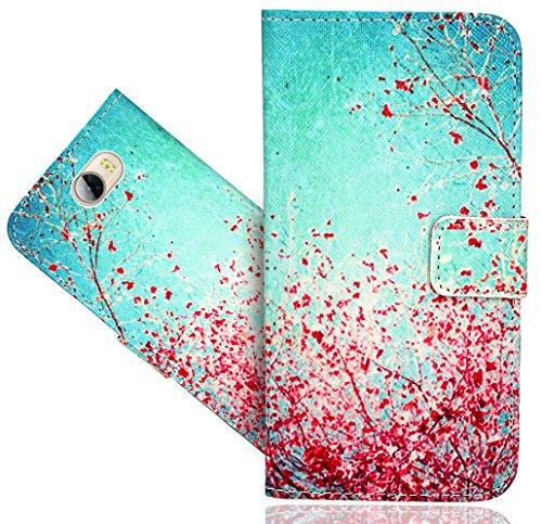 Huawei Y6 II Compact/Huawei Y5 II Handy Tasche, FoneExpert® Wallet Hülle Flip Cover Hüllen Etui Hülle Ledertasche Lederhülle Schutzhülle Für Huawei Y6 II Compact/Huawei Y5 II