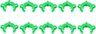 StonyLab Plastic Joint Clips, 10 pcs 24mm Keck Clamp #24 Lab Keck Clips for 24/29 24/40 Joint Glass Standard Conical Interface Clip Ground Glass Joint Lab Accessory - Green