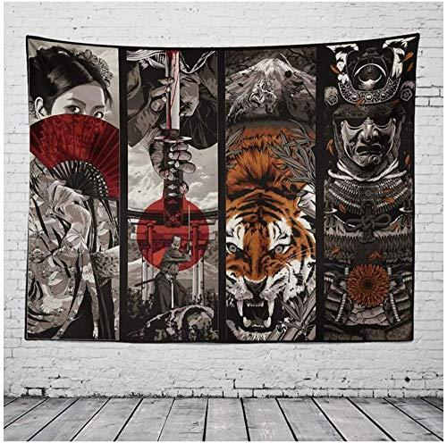 Yhjdcc Tapiz Japon¨¦s Multi-Elemento Dormitorio decoraci¨®n Dormitorio decoraci¨®n Mural Tela de Fondo 150cm x 200 cm