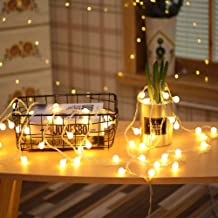 BAILONGJU Globe String Lights, 49Feet 100 LED Warm White Fairy String Lights Plug in Waterproof, Perfect for Indoor and Outdoor Use with 30V Low Voltage Transformer, Extendable