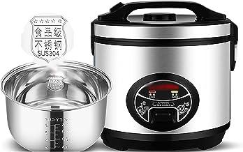 Rijstkoker met stoomboot (4/5/6L) 304 roestvrijstalen binnenpot, intelligente isolatie, maak rijst & stoom gezond voedsel...