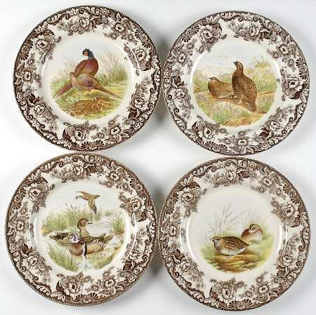 Spode Woodland 10.5' Dinner plates Set of 4