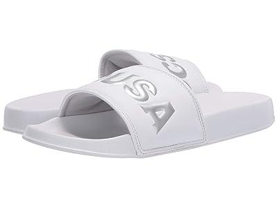 DC DC Slide SE (White/Silver) Women