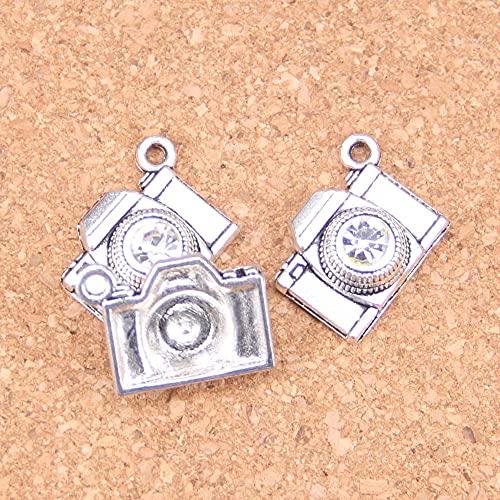 WANM Pendentif 10 Pcs Charmes Caméra 20X16Mm Antique Pendentifs Vintage Tibétain Argent DIY Bijoux pour Collier Bracelet
