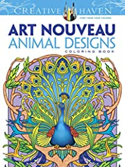 Specially designed for experienced colorists Detailed images of Animal Designs in the Art Nouveau style Use colored pencil or marker Pages are perforated and printed on one side only 31 full-page designs