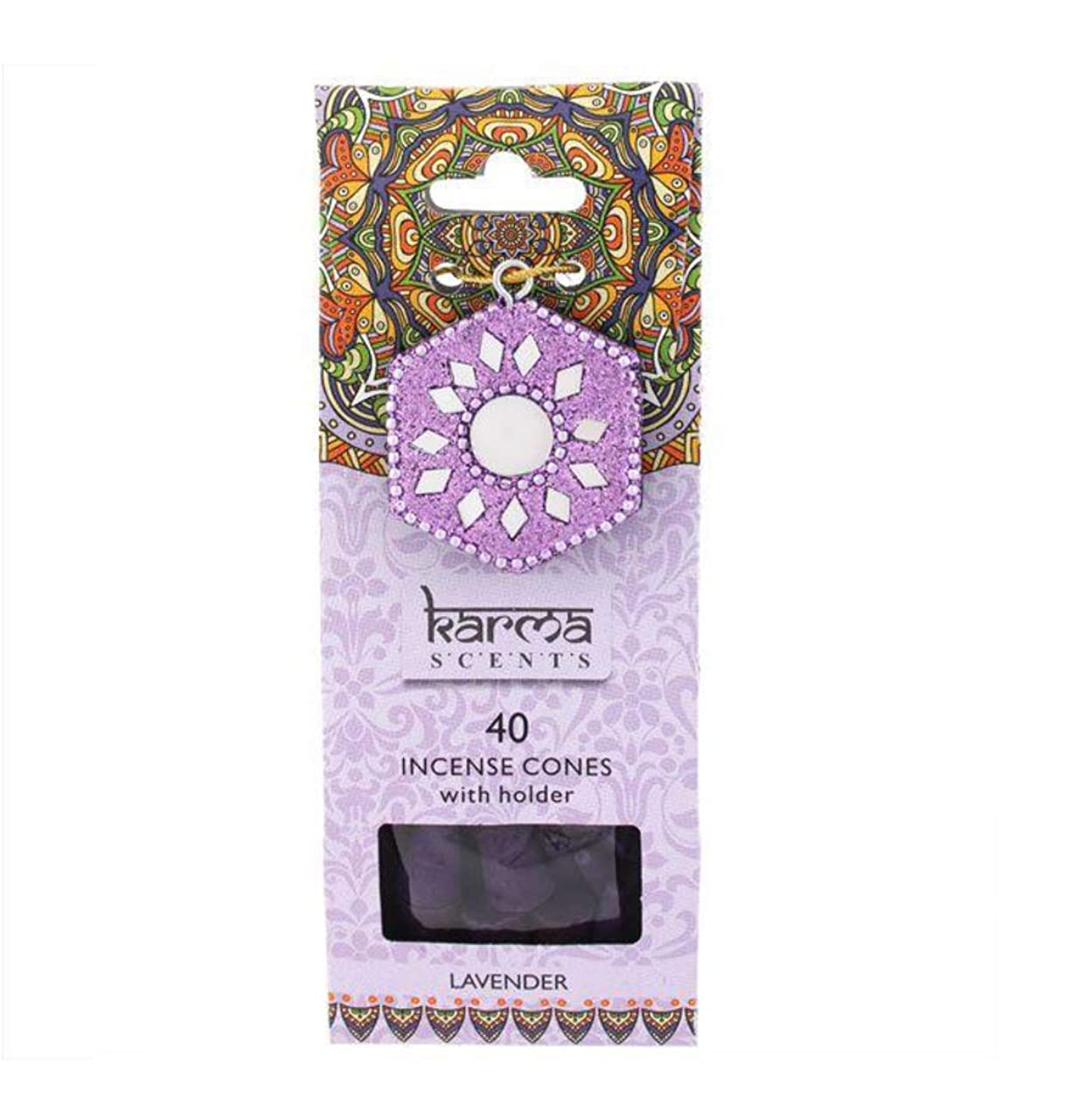 彼らのものタンカー一回Karma Lavender Incense Cones Gift Set