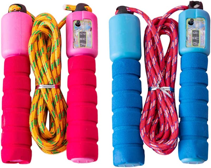 Abaodam 2pcs Sale Automatic Counting Fitness Skipping Rope Jump Dedication