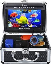 دوربین مانیتور ماهیگیری Eyoyo 7 اینچ LCD مانیتور ماهی یاب ضد آب ضد آب HD 1000TVL دوربین ماهیگیری 15 متر کابل 12 قطعه IR مادون قرمز LED برای یخ ، دریاچه و قایق ماهیگیری