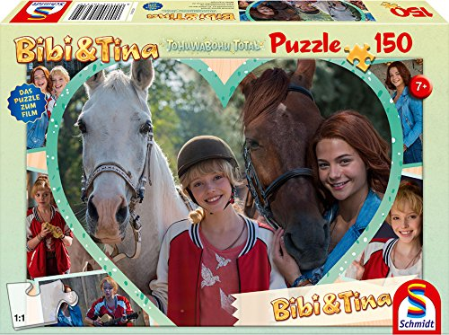 Schmidt Spiele Bibi & Tina Puzzle 56235, beige, Film 4, Mädchenfreundschaft, 150 Teile