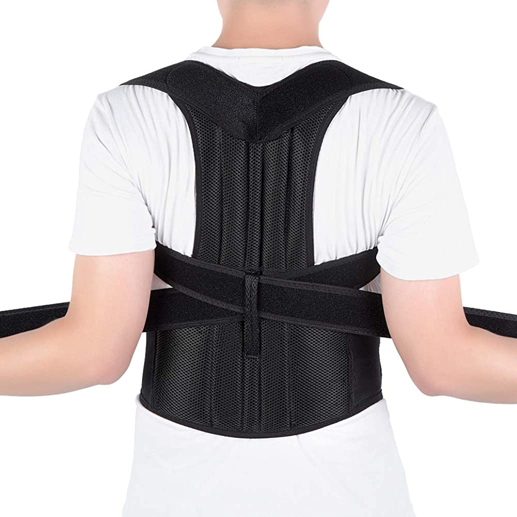 Posture Corrector for Men and Women, Back Brace Full Back Support with Adjustable Back Shoulder Lumbar Waist Support Belt, Improve Posture, Prevent Slouching, Relieve Back Pain (XX-Large)