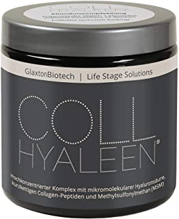 Collhyaleen® Gelenk Nahrungsergänzung mit Hyaluronsäure Vegan MSM Kollagen Hochdosiert..