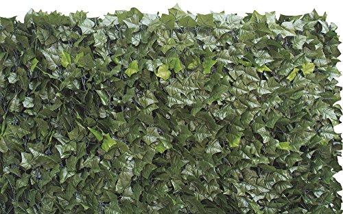 VERDELOOK Sempreverde® Double, Siepe Artificiale 1.5X3 M, Foglia Edera Su Due Lati, Per Arredo Giardino