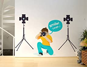 Rawpockets 'Smile and Laugh Creative' Wall Sticker (PVC Vinyl, 0.99 cm x 115.01 cm x 70 cm)