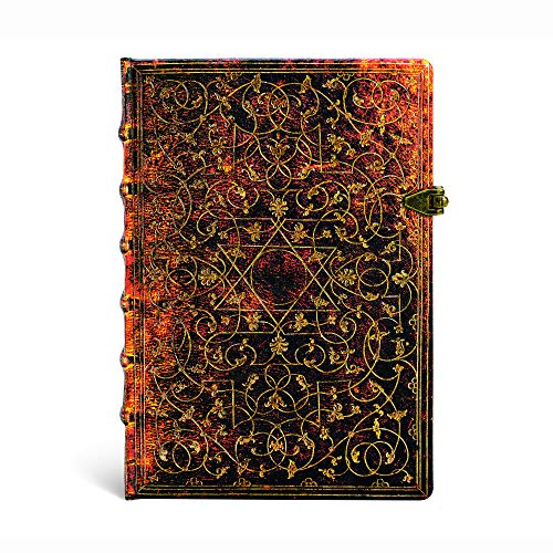 Grolier Ornamentali - Notizbuch Midi Flexi Liniert - Paperblanks