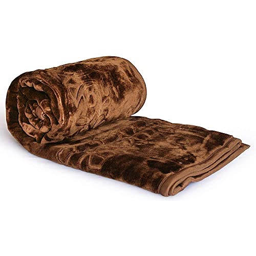 Shopnetix® Ultra Soft Luxurious Embossed Very Warm Korean Mink Blanket Double Bed for Winter