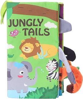 NUOBESTY Livro de Pano Do Bebê Floresta Tropical Padrão Animal Livro de Pano Tecido Lavável Livro Macio Brinquedo Educativ...