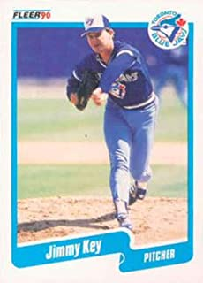 1990 Fleer Baseball #85 Jimmy Key Toronto Blue Jays Official MLB Trading Card