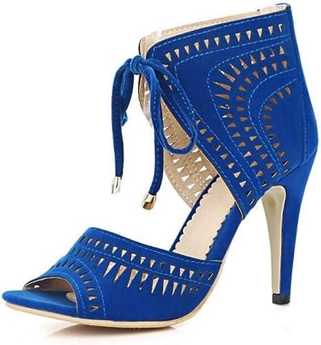 Sandales d'hiver en PU (polyuréthane) pour pour Femmes à Talon Aiguille Noir Rouge Bleu
