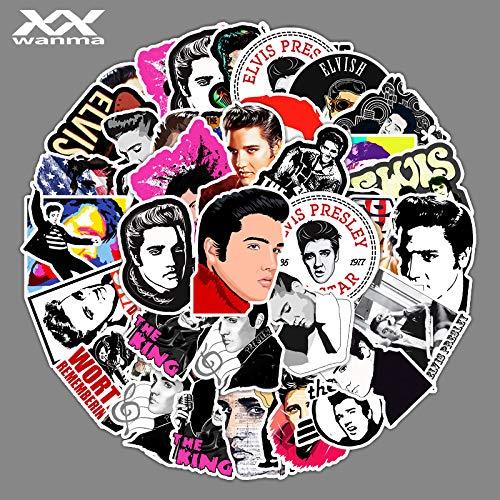 YCYY 51 Singer Elvis Presley Doodle Stickers Laptop Suitcase Car Phone Decorative Stickers