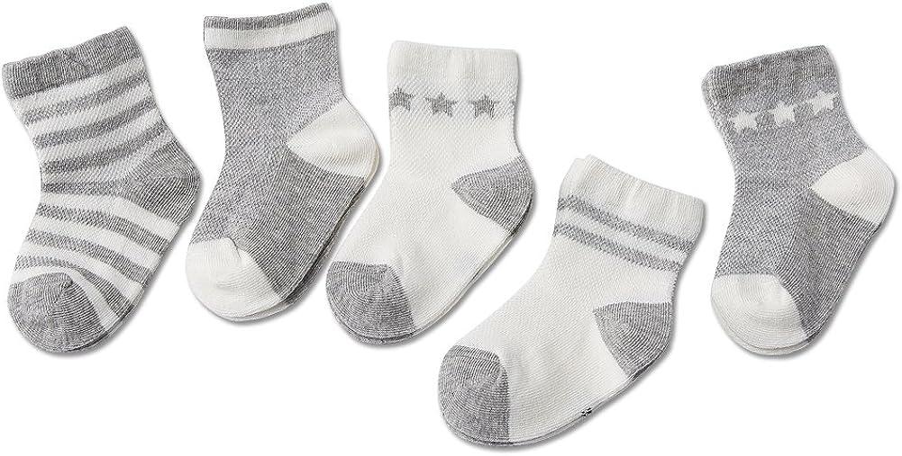Unisex Baby Cute Cotton 5 Pack Socks
