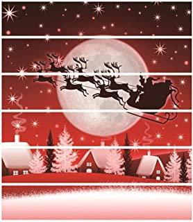 6pcs Christmas Stair Stickers 3D Snowman Cats Tree Christmas Eve Graphic Waterproof Stair Risers Sticker Decals Removable Mural Wallpaper DIY Christmas Home Decorations 7.1x39.4 inches