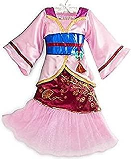 DISNEY STORE PRINCESS MULAN KIMONO COSTUME DRESS GIRLS PINK - 2016 (5/6)