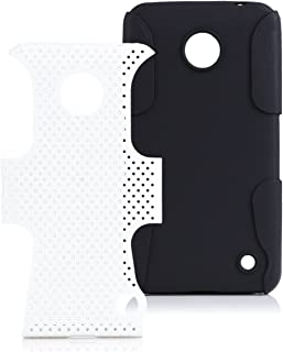 iCues Case Compatible with Nokia Lumia 630/635 2 Part Air White [Screen Protector Included] Heavy Duty Hard Cover shookproof Protection Shell Tough Military Protective Boys lifeproof Men