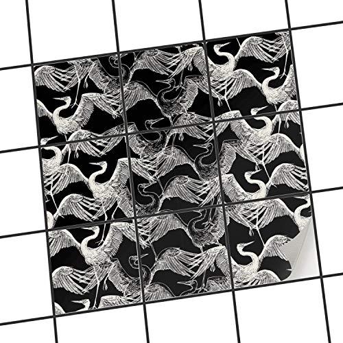 Piastrelle da incollare per Cucina | Adesivo Pellicola Piastrelle Adesivo Bagno - Piastrelle-Cucina Pavimenti Interni | 10x10 cm - Design Coffee Beans - 1 Pezzo