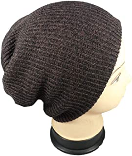 Hat Fashion Slouch Baggy Beanie Cap Slouchy Skull Hat Mens Womens Knit Hat. Fashion Accessories (Color : Brown)