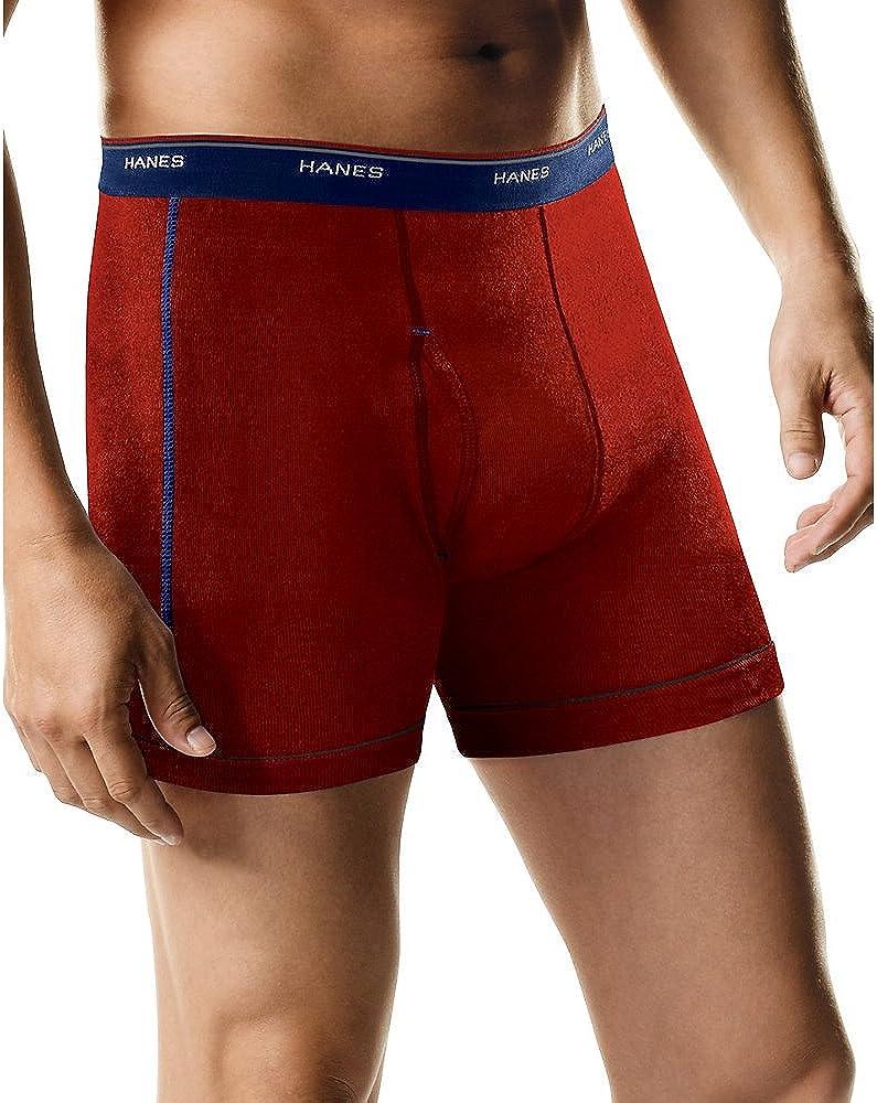 Hanes Ultimate Men's Cotton Boxer Briefs - Multiple Packs and Colors