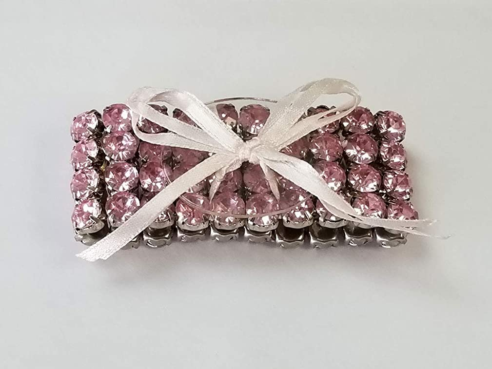 Floral Corsage Bracelet in Pink, Precious Collection