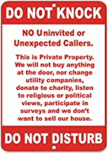 Do Not Knock No Uninvited Or Unexpected Callers Vinyl Sticker Decal 8