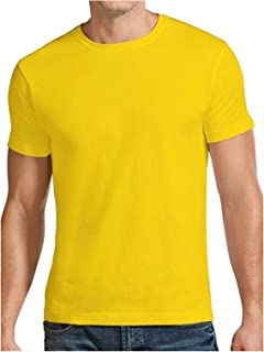 Santhome Round Neck Cotton Polo T-Shirt for Men
