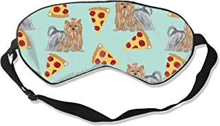 Yorkie Dog Pizzas Cute Dog Best Yorkshire Terriers Sleep Mask Pack Men and Women Or Children Eye Mask No Pressure Eye Masks for Sleep & Travel