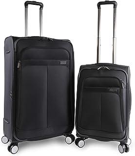 Perry Ellis 2 Piece Prodigy Lightweight Luggage Set, Black, One Size