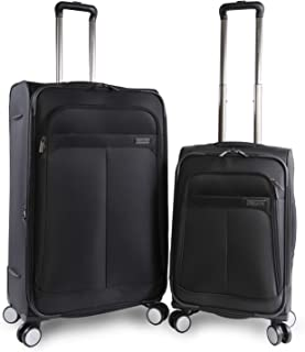 Perry Ellis 2 Piece Prodigy Lightweight Luggage Set, Black
