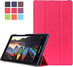 WITCASE Lenovo Tab2 A8/ Tab3 8 Case, [Auto wake-up] Ultra Slim Tri-Fold Stand Case Cover for Lenovo Tab 2 A8-50 2015 Release/ Lenovo Tab 3 TB3-850F 2016 Release 8-Inch Tablet - Rose Red