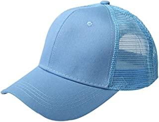 Miss Xia Ji hat after opening solid color baseball cap cotton baseball cap ponytail Sports Casual Hat (Color : Light blue,...