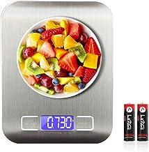 SEEDARY Báscula Digital para Cocina de Acero Inoxidable, 5kg / 11 lbs, Balanza de de Cocina de Alta Precisión, Alimentos M...