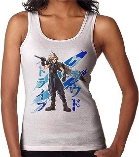 CHAOSHJU Cloud Strife Blue Ink Final Fantasy VII Women's Vest