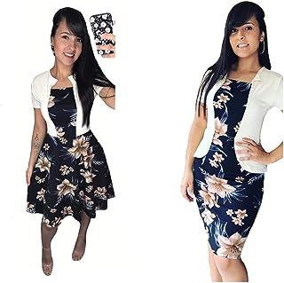 Kit 2 Vestido Feminino Moda Evangélica Casual Trabalho Moderno