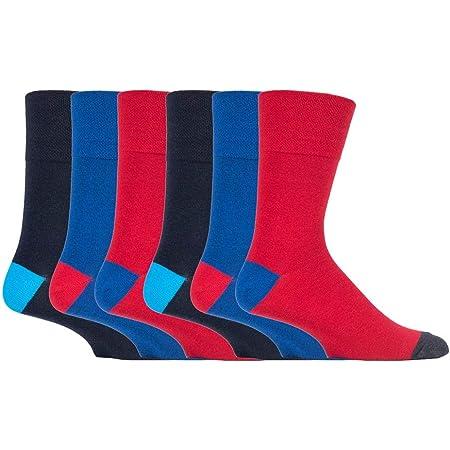 6 pairs Mens SockShop Cotton Gentle Grip Big Foot Socks, Size 12-14 uk 46-50 eur See Various