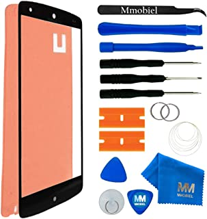 MMOBIEL Front Glass Replacement Compatible withLG Google Nexus 5 Series (Black) Display Touchscreen incl Tool Kit