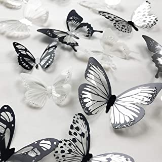 36 PCS 3D Colorful Crystal Butterfly Wall Stickers with Adhesive Art Decal Satin Paper..