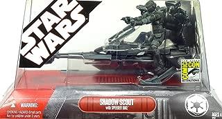 Hasbro Star Wars Saga 2007 SDCC Comic-Con Exclusive Action Figure Shadow Scout Trooper on Speeder Bike