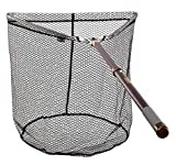 McLean Tri Folding Freshwater Weigh Rubber Mesh Fishing Landing Net with 50 inches Telescopic Handle (R-120)